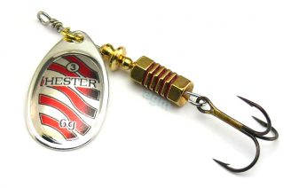 Hester Style Spinner 6g - Silver/Red