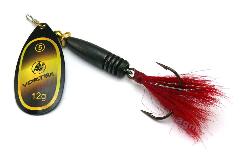 Hester Vortex Dressed Spinner 12g - Black/Gold Holo/Red