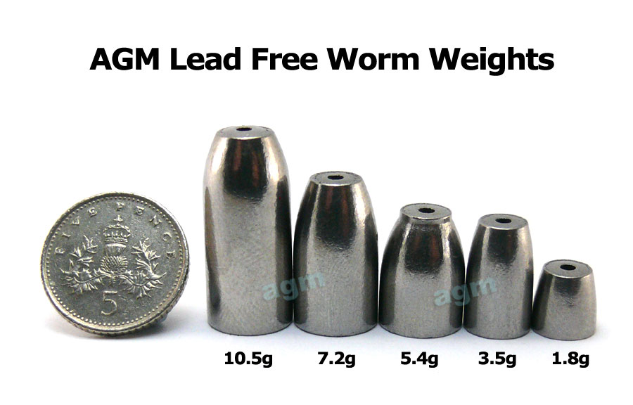 AGM Lead Free Worm Weight 1.8g (12pcs)