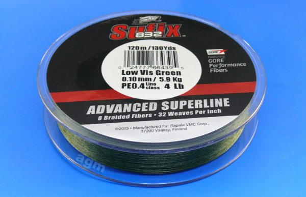Sufix 832 Braid 5.9kg/13lb (120mtrs) - Low Vis Green