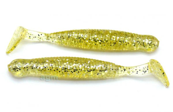 "AGM 2.5"" Paddler Grub - Gold Shimmer (10pcs)"