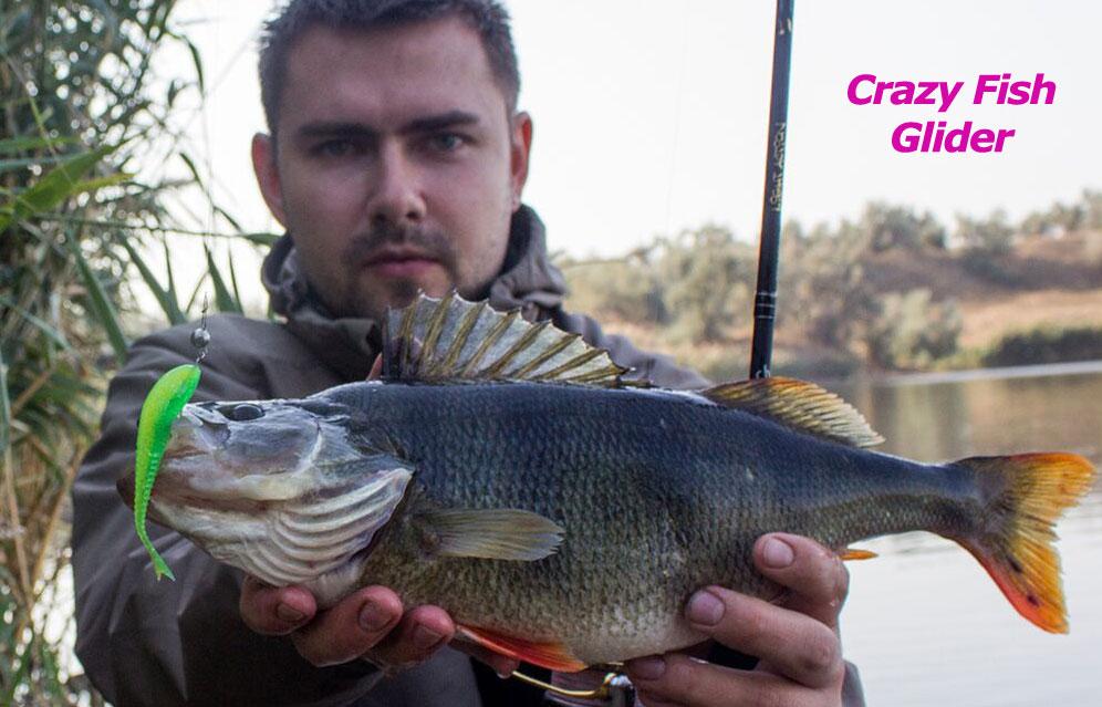 "Crazy Fish 3.5"" Floating Glider - 3D Swamp Pearl (8pcs)"