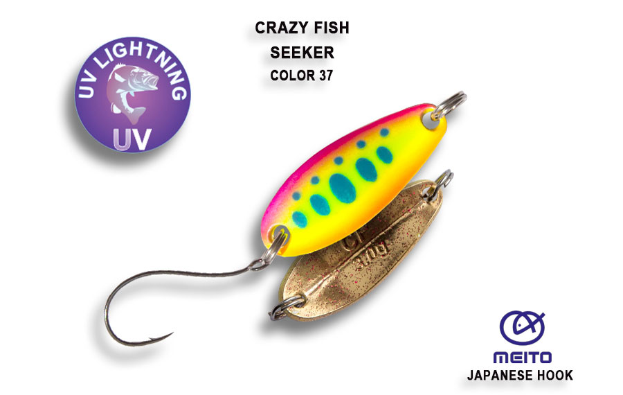Crazy Fish Seeker Spoon 2.5g - 37 Neon Yamame/Gold