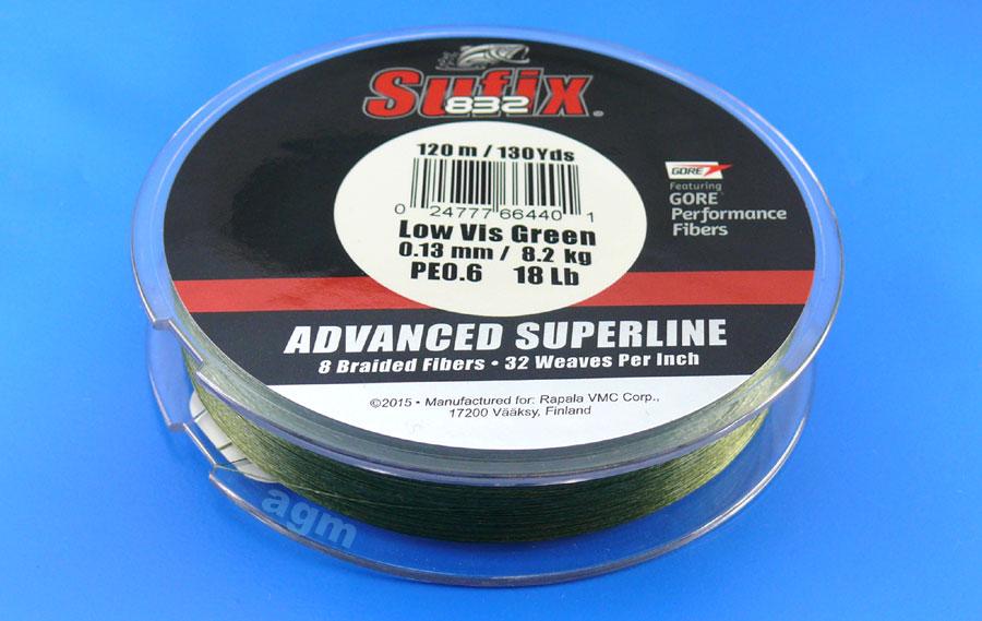 Sufix 832 Braid 8.2kg/18lb (120mtrs) - Low Vis Green
