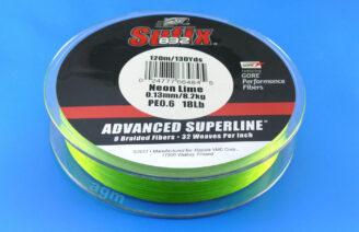 Sufix 832 Braid 8.2kg/18lb (120mtrs) - Neon Lime