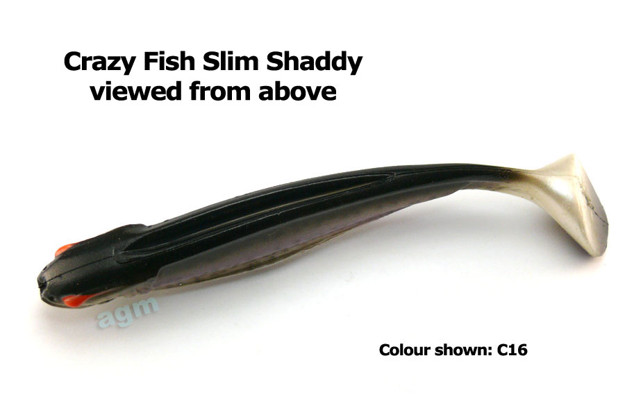 "Crazy Fish Trophy Series 7.8"" Slim Shaddy - C12 Smoked Roach"