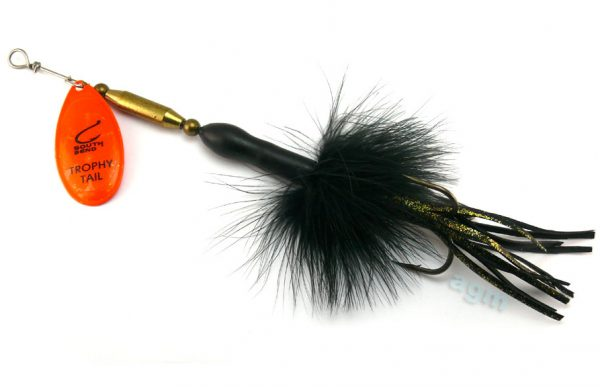 South Bend Trophy Tail Spinner 30g - Black/Orange