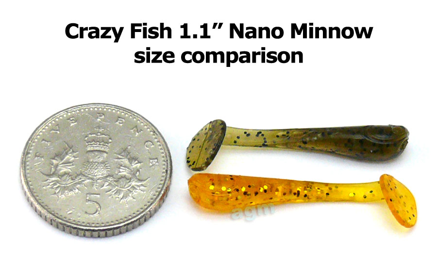 "Crazy Fish 1.1"" Nano Minnow - Ultraviolet/Dark Beer (16pcs)"