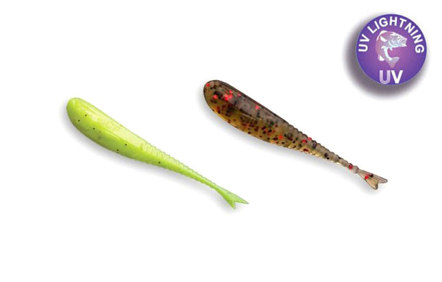 "Crazy Fish 1.2"" Glider - Chartreuse & Blk/Red Watermelon (16pcs)"