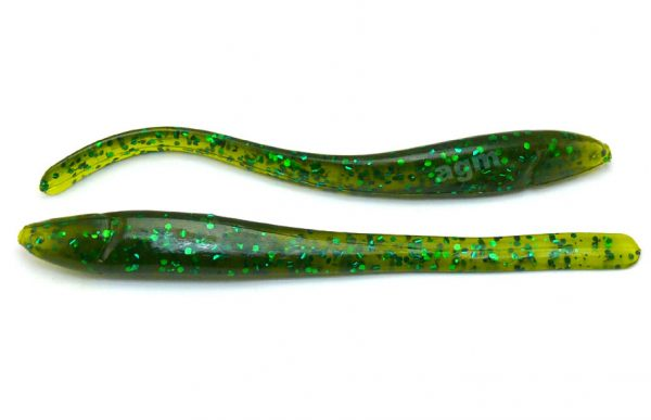"Culprit Zeal 4"" Straight Worm - Clear Melon/Green Flake (10pcs)"