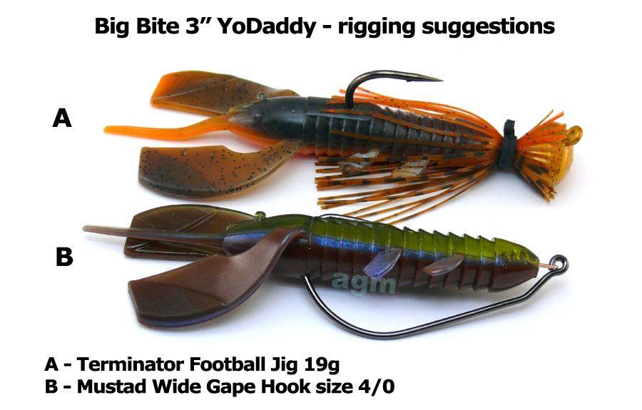 """Big Bite 3"""" YoDaddy - Crawdad (8pcs)"""